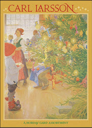 "Carl Larsson Boxed Christmas Cards.  Twenty assorted 5 x 7"" full-color blank notecards (5 each of 4 designs) with envelopes in a decorative box."