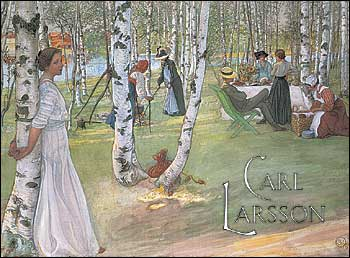 "Carl Larsson Boxed Cards, Twenty assorted 5 x 7"" full-color blank notecards (5 each of 4 designs) with envelopes in a decorative box."