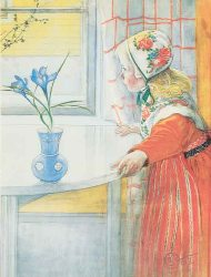 Carl Larsson Boxed Cards. This folio of 8 cards and envelopes features Carl Larsson's colorful paintings of children. ( 2 each of 4 designs )