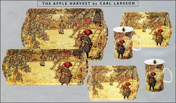 Carl Larsson - The Apple Harvest - Trays and Mugs