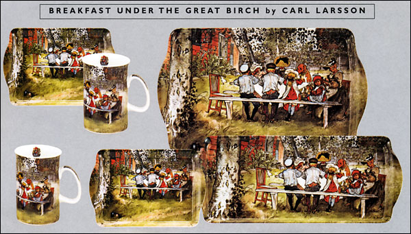 Carl Larsson - Breakfast Under the Birch Tree - Trays and Mugs