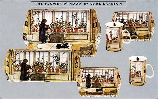 Carl Larsson - The Flower Window - Trays and Mugs