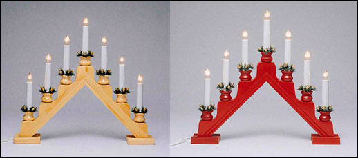 Swedish Electric Spindle Candelabra