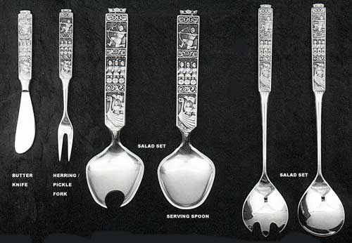 Konge-Tinn Pewter FlatwareServing Pieces